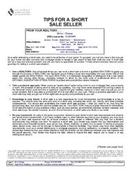 Tips for the Short Sale Seller